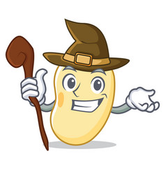Witch soy bean mascot cartoon vector