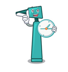 with clock otoscope character cartoon style vector image