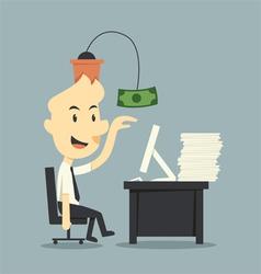 Work for money vector image
