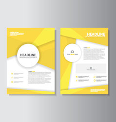 Yellow brochure flyer leaflet annual report vector
