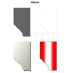 Alberta blank outline map set vector
