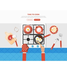 Cooking Top View Poster vector image vector image