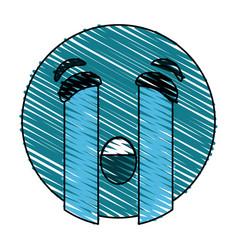 crying eyes emoji icon image vector image