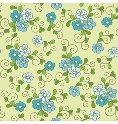 Floral seamless pattern with forget-me-not vector image vector image