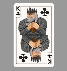 King of clubs playing card vector image vector image