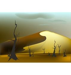 Sandy dune vector image vector image