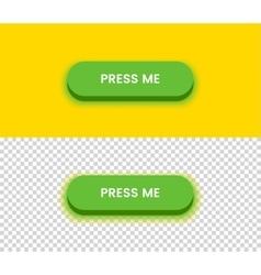 Simple green button vector image
