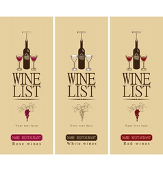 three wine vector image vector image