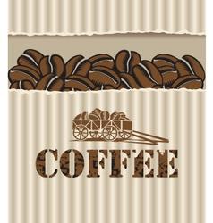 box of coffee vector image