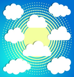 Clouds on halftone background vector image