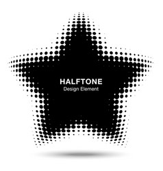 convex abstract halftone distorted star frame vector image