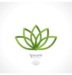 lotus symbol vector image vector image