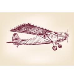 plane hand drawn llustration realistic sketch vector image vector image