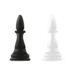 bishop chess piece black and white vector image vector image