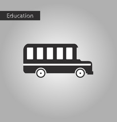 black and white style icon bus vector image