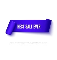 Black curved paper ribbon banner with rolls vector image vector image