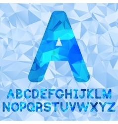 Polygonal alphabet vector image