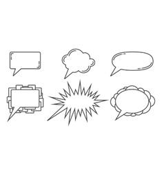 Speech bubbles examples vector image vector image