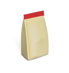blank plastic or paper packaging with ziplock vector image vector image
