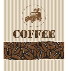 coffee with retro car vector image