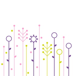 Simple abstract spring flowers design vector image
