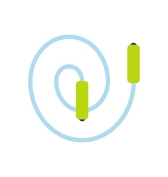 Skipping rope flat icon vector image