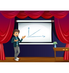 A boy and his presentation vector image