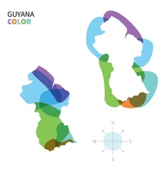Abstract color map of Guyana vector image