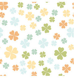 Abstract seamless pattern with colorful shamrock vector