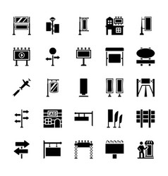 advertising glyph icons vector image