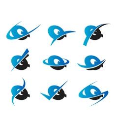Alphabet q logo icons vector