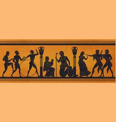 Ancient greece mythology antic history black vector