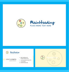 Bacteria plate logo design with tagline front vector
