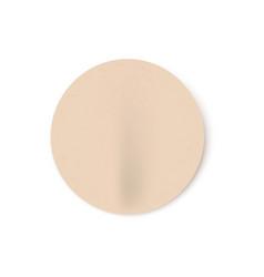 badly glued beige blank vector image