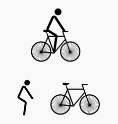 Bicycle art vector
