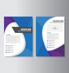 Blue purple brochure flyer leaflet booklet cover vector
