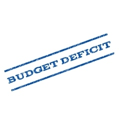 Budget Deficit Watermark Stamp vector
