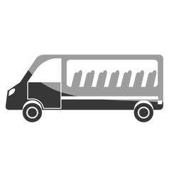 Bus vehicle transport icon design vector image
