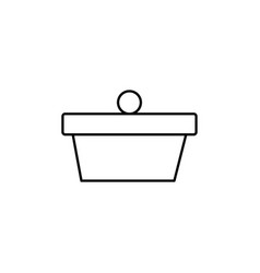 cake with berry icon vector image