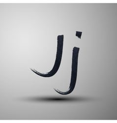 calligraphic hand-drawn marker or ink letter J vector image