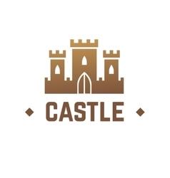 castle logo design knights fortress vector image