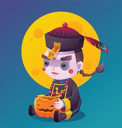 Chinese Hopping Vampire Ghost for Halloween vector image
