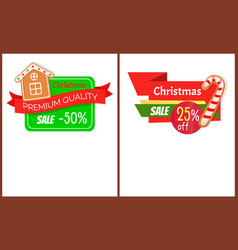 christmas sale bright web icons cookies vector image