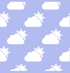 Cloud and sun seamless pattern vector