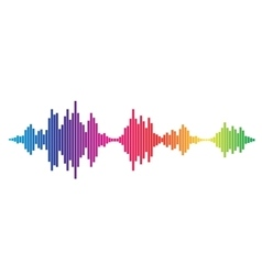 Colorful Sound waves vector