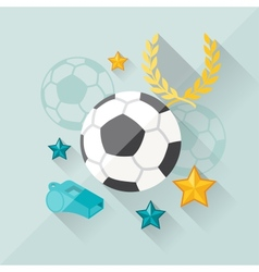 concept football in flat design style vector image