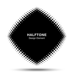 convex abstract halftone distorted rhombus frame vector image