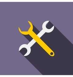 Crossed wrenches icon flat style vector
