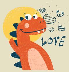 cute dino dinosaur for print t-shirt vector image