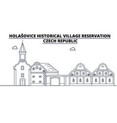 Czech republic - holasovice travel famous landmark vector